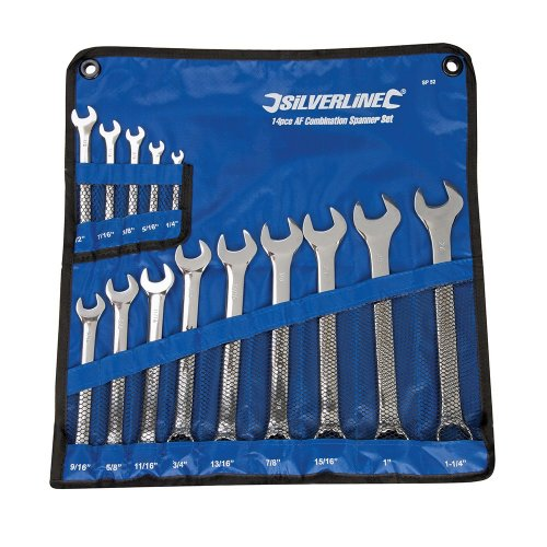 14Pce Combination Spanner Set 1/4 - 1-1/4in