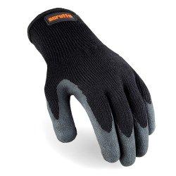 L Utility Latex Coated Gloves Black