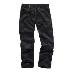 Worker  Plus  Black  Trousers