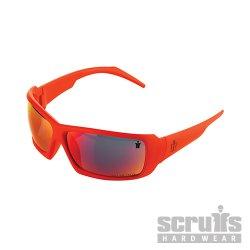 Eagle Smoke Lens Safety Specs Orange