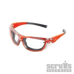 Falcon Anti-Fog Lens Safety Specs Orange