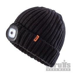 Led Knitted Beanie Black