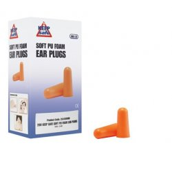Keepsafe PU Foam Uncorded Ear Plugs SNR 37 EN 352-2 [Box of 200 Pairs]