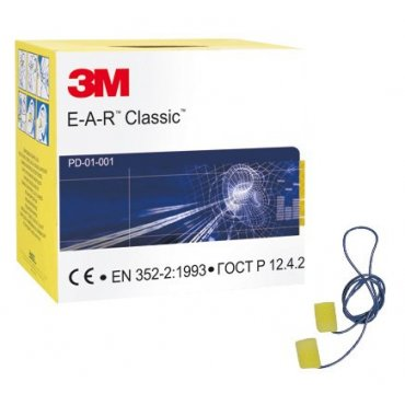 3M Classic Corded Ear Plugs SNR 29 [200 Pairs]