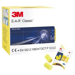 3M Classic Ear Plugs SNR 28 [Box of 250 Pairs]