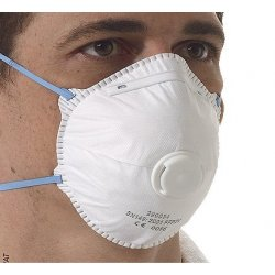 FFP2 Economy Valved Desposable Respirator EN149:2001 [Box of 10]