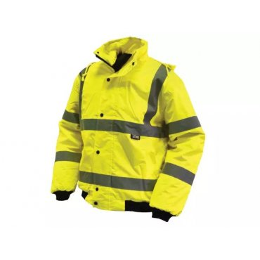 Yellow  Hi-Vis  Bomber  Road  Safety  Jackets
