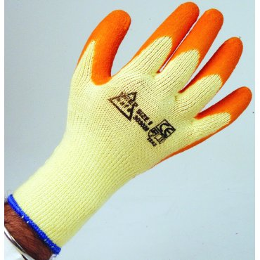 Orange Latex Coated Gloves