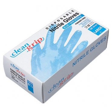 Blue Disposable Clean Grip Nitrile Powder Free Gloves