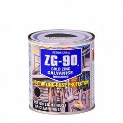 ZG90 Zinc Galvanise Brush On Application Black 500ml (Pack of 6)